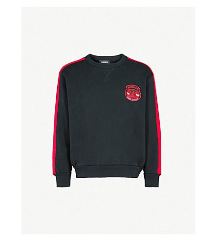 DIESEL S-Bay crewneck cotton sweatshirt (Black