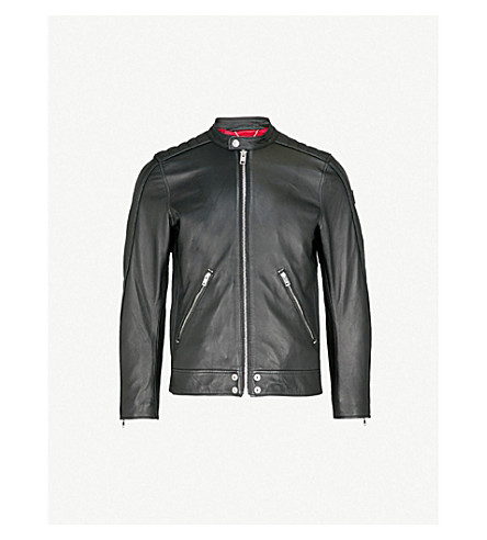 DIESEL L-Quad zipped leather jacket (Black