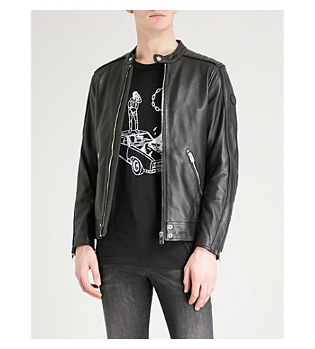 DIESEL L-Quad zipped leather jacket (Black