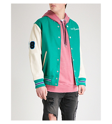 DIESEL L-Harry wool and leather bomber jacket (Bosphorus