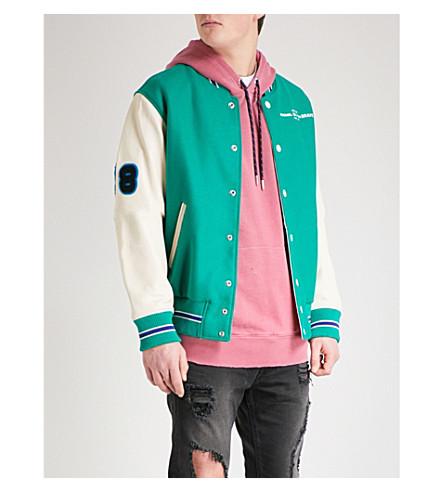 DIESEL L-Harry wool and leather bomber jacket (Bosphorus