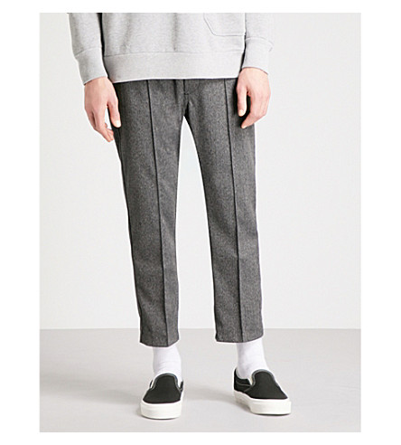 DIESEL P-Paint regular-fit straight woven trousers (Light+grey+melange