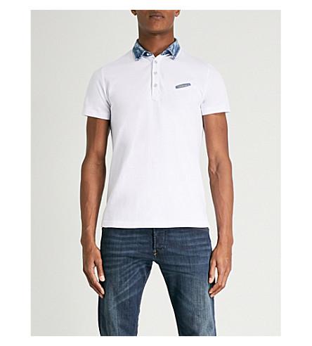 DIESEL T-Sam cotton-piqué polo shirt (Bright+white