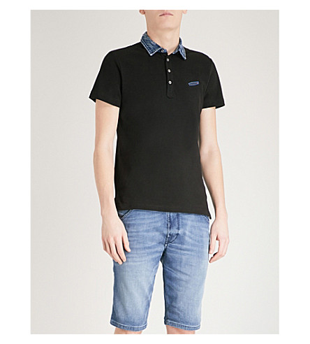 DIESEL T-Sam cotton-piqué polo shirt (Black