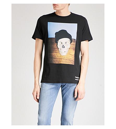 DIESEL T-Joesk 平纹针织棉 T 恤 (黑色