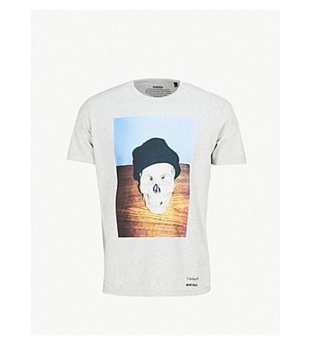 DIESEL T-Joesk cotton-jersey T-shirt (Light+grey+melange