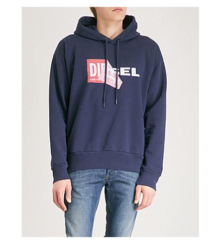DIESEL Salby cotton sweatshirt (Peacoat+blue