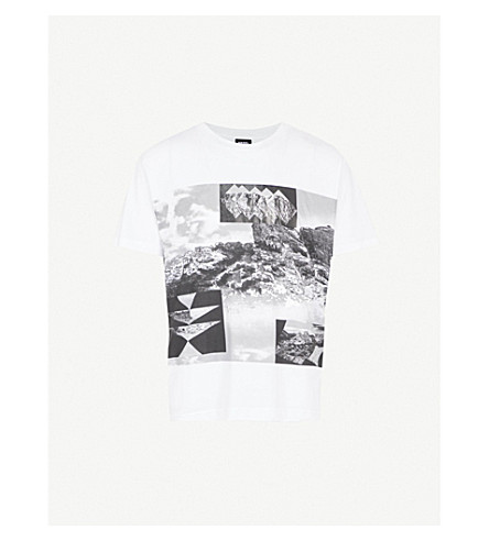 DIESEL T-Wallace-Ab cotton-jersey T-shirt (Bright+white
