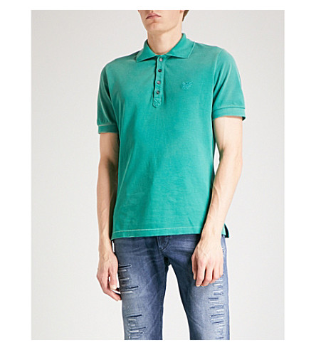 DIESEL T-Night cotton-piqué polo shirt (Bosphorus