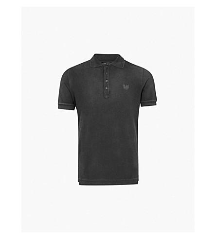 DIESEL T 夜棉质珠地布 Polo 衫 (黑色