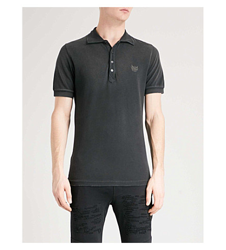 DIESEL T-Night cotton-piqué polo shirt (Black
