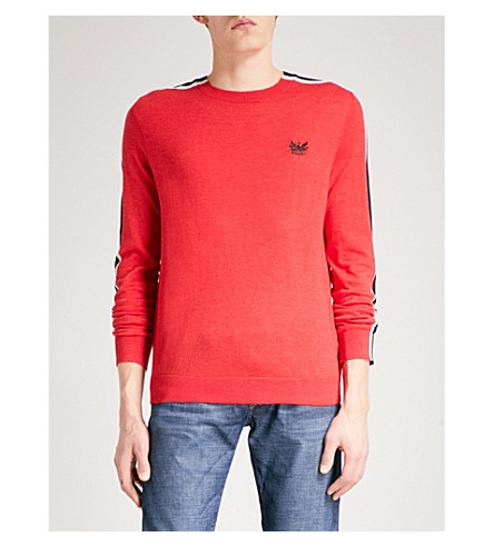 DIESEL K-Tape knitted cotton-blend jumper (Tango+red