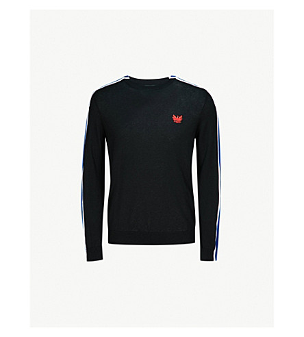 DIESEL K-Tape knitted cotton-blend jumper (Black