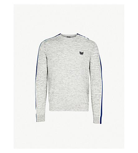 DIESEL K-Tape knitted cotton-blend jumper (Light+grey+melange
