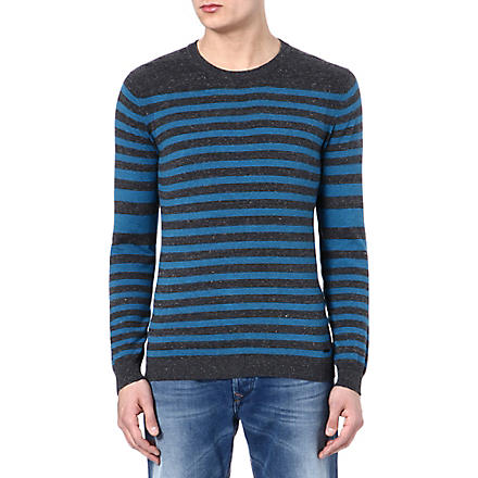 DIESEL K-color jumper (99h (black/blue)