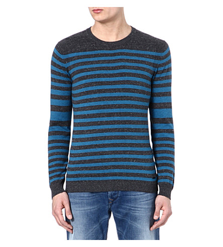 DIESEL K-color jumper (99h (black/blue)