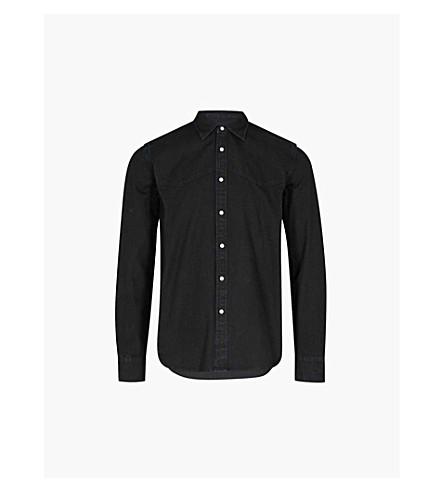 DIESEL D-Planet regular-fit cotton shirt (Denim+black
