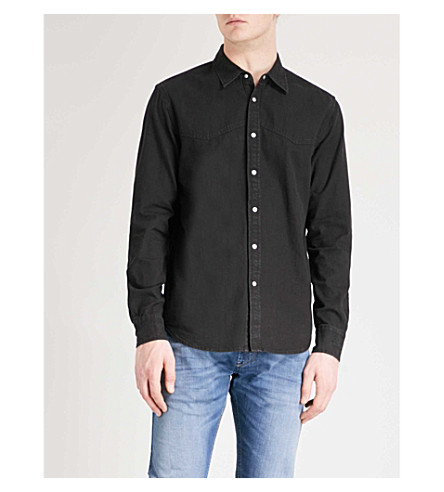 DIESEL D-Planet regular-fit cotton shirt (Denim+black