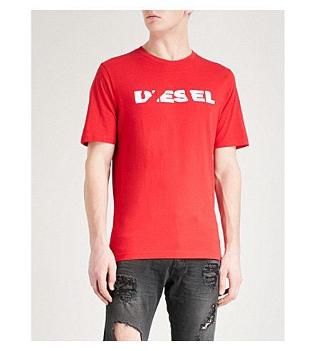 DIESEL T-Just-SL cotton-jersey T-shirt (Tango+red