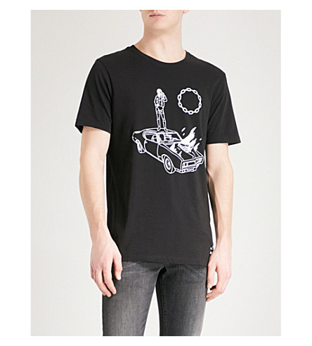DIESEL T-Just-SJ cotton-jersey T-shirt (Black