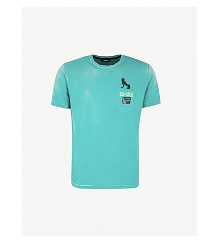 DIESEL Tjoest logo-print cotton-jersey T-shirt (Bosphorus