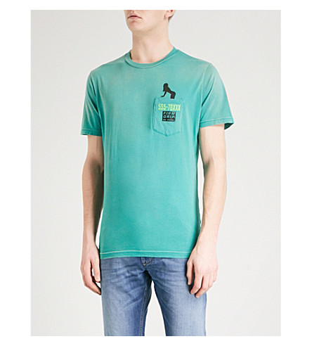 DIESEL Tjoest logo-print cotton-jersey T-shirt (Bosphorus