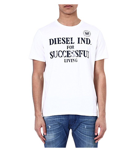 DIESEL Tdif branded t-shirt (100 (white)