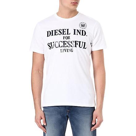 DIESEL Tdif branded t-shirt (100 (white)
