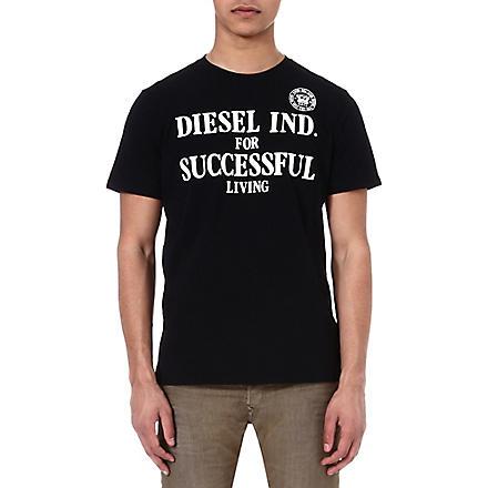 DIESEL Tdif branded t-shirt (900 (black)
