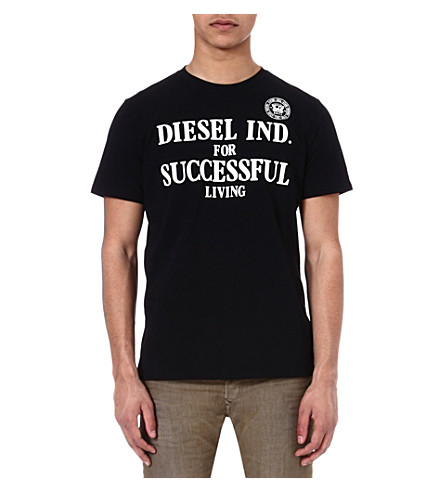 DIESEL Tdif branded t-shirt (900 (black)