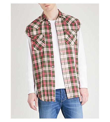 DIESEL Seastin cotton shirt (Slate+rose