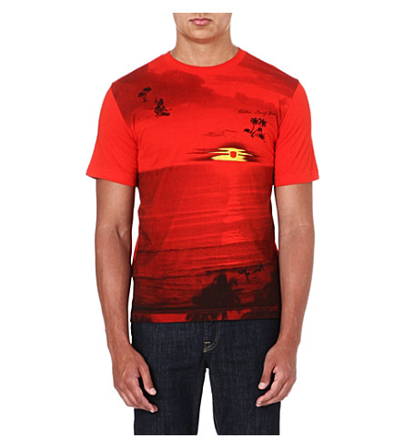DIESEL Digital-print t-shirt (Red