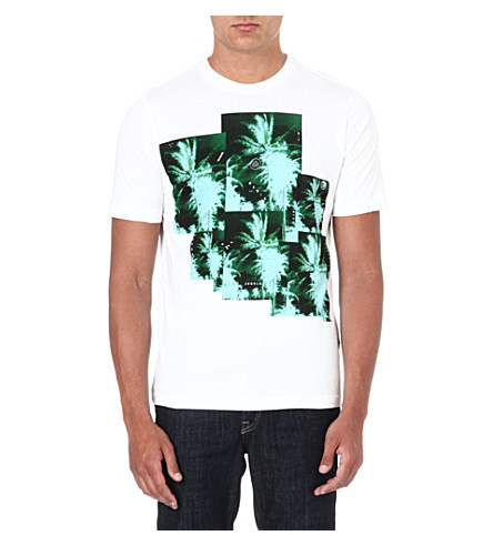 DIESEL Jungle-print t-shirt (White