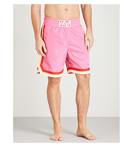 DIESEL P-Boxer striped-trim swim shorts (Azalea+pink