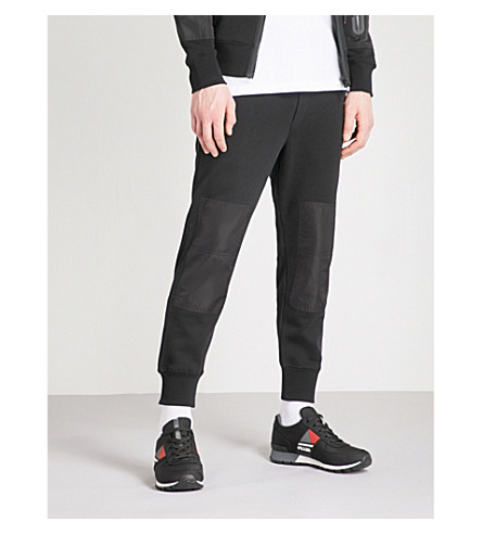 DIESEL P-Grand regular-fit cotton-jersey jogging bottoms (Black