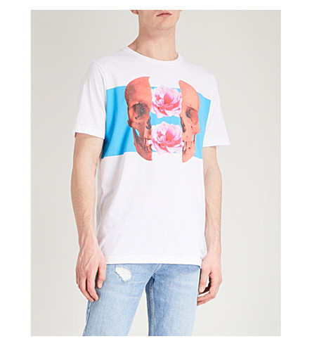 DIESEL T-Just-Sw cotton-jersey T-shirt (Bright+white