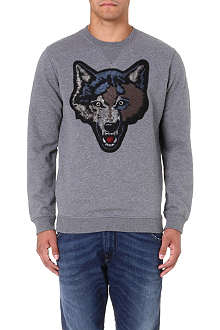 DIESEL S-tusti cotton sweatshirt