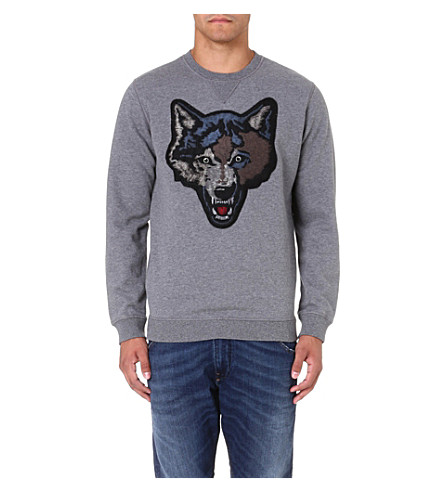 DIESEL S-tusti cotton sweatshirt (Grey