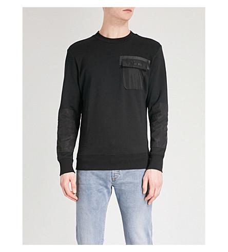 DIESEL S-Crome cotton-jersey sweatshirt (Black