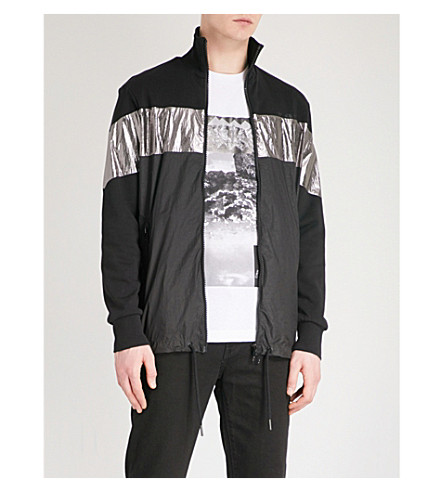 DIESEL Metallic-panel shell jacket (Black
