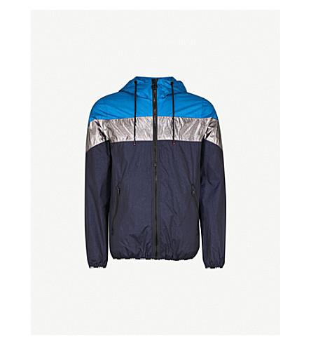 DIESEL J-Lapaz metallic-panel shell jacket (Imperial+blue