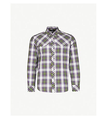 DIESEL S-Plany regular-fit checked cotton shirt (Cedar+green