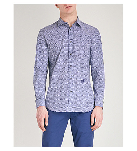 DIESEL S-Duny patterned stretch-cotton shirt (Bright+white