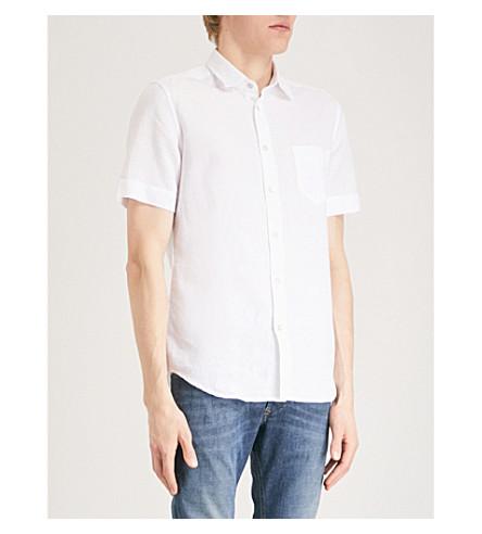 lino DIESEL y de gris algodón vaporosa Camisa q1ECwES