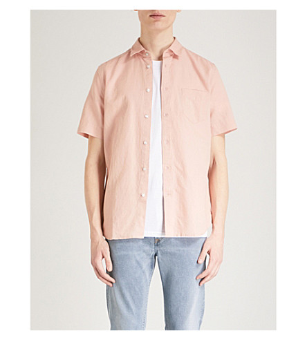 DIESEL Svenetianlin regular-fit cotton and linen-blend shirt (Misty+rose