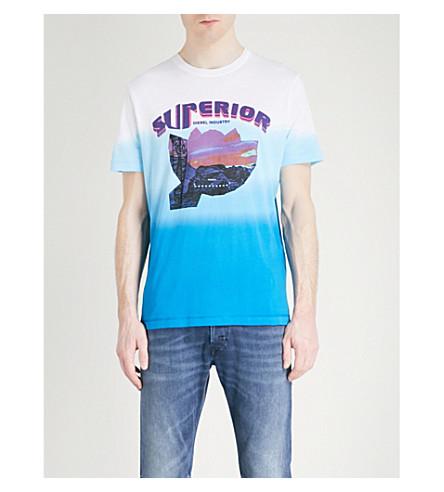 DIESEL T-Joe-SR printed cotton-jersey T-shirt (Bright+white