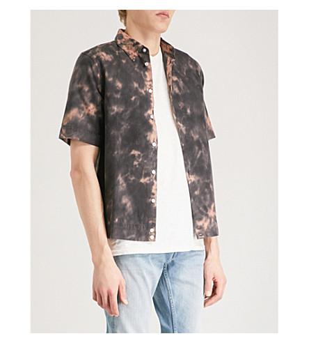 DIESEL Stigge cotton shirt (Mandarin+red
