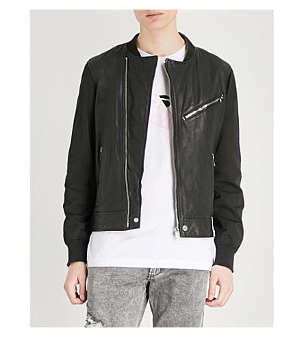 DIESEL Ltombstone leather jacket (Black
