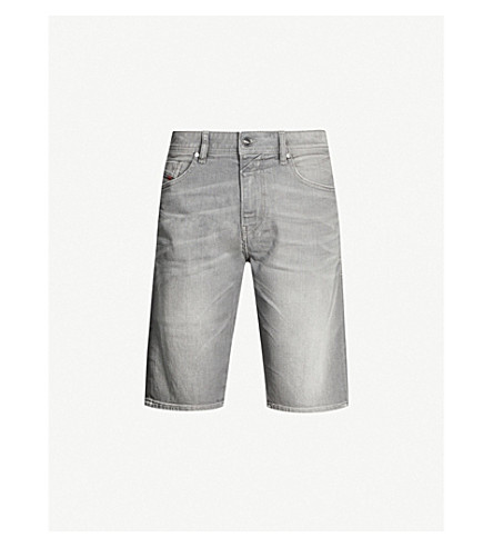DIESEL Thos slim-fit faded-wash denim shorts (Grey