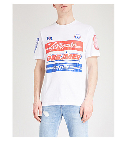 DIESEL Tjustsd cotton-jersey T-shirt (Bright+white